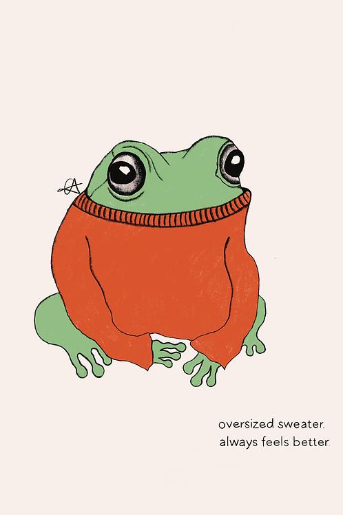 A3 Frog Print