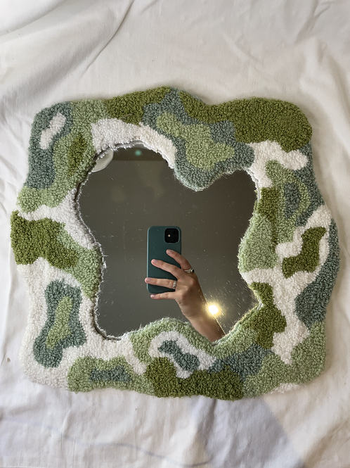 tufted mirror ( large )