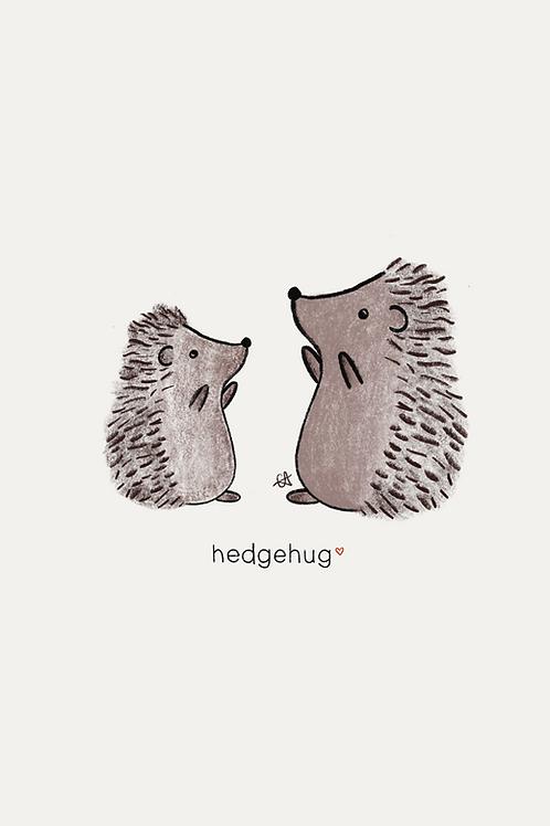 A5 Hedgehug Print