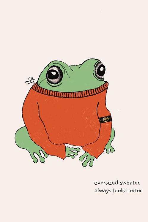 A3 Stone Island Frog Print