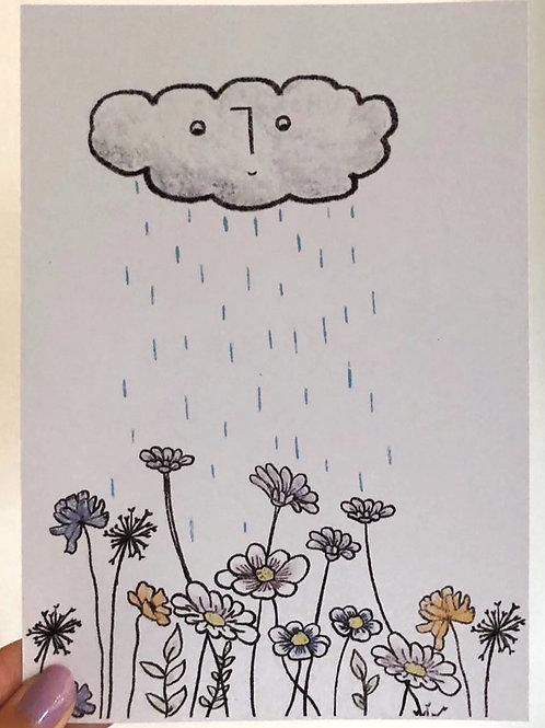 No rain, No flower, Frank print