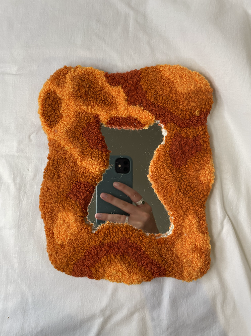 tufted mirror ( small)
