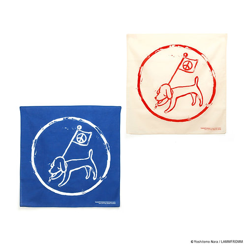 [ Yoshitomo Nara Product ] Yoshitomo Nara Bandana NARA FLAG