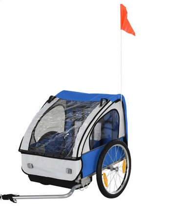 2-Seat Child Bike Trailer
