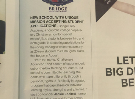 Bridge Prep Academy honored in Fort Bend Lifestyles & Homes magazine