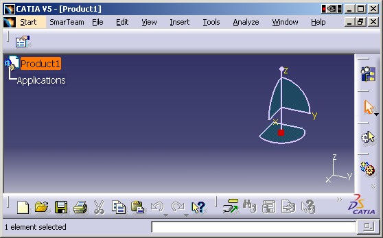 interface of catia