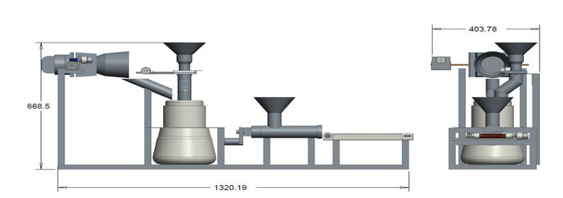 Cattle and poultry feed making machine