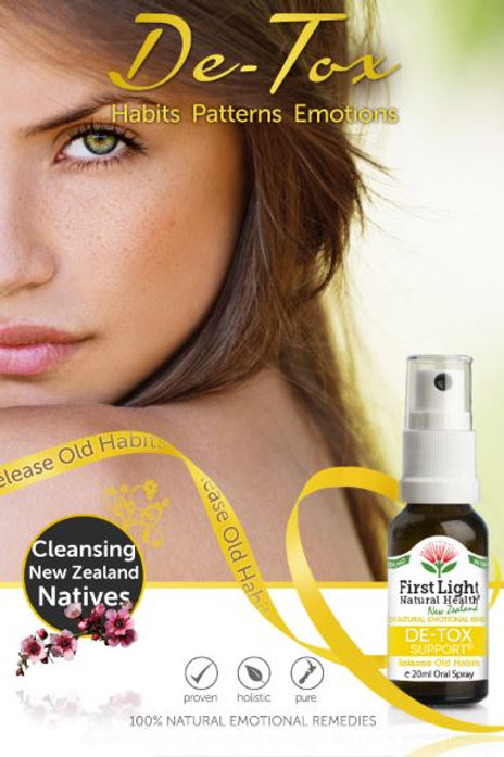De-Tox Support Anemotionally cleansingflower essence blend in auckland new zealand