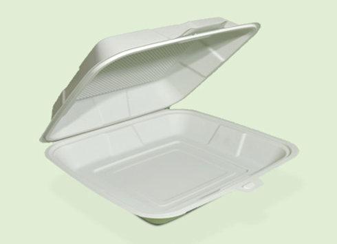 Portacomida PC1 Liso de plastico biodegradable en Cali Colombia