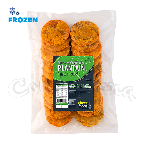 Small Flattened Green Plantain - 1kg