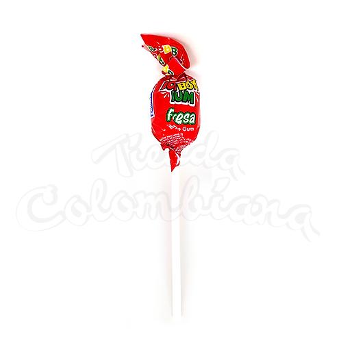 Strawberry lollipop (Bom Bom Bun Fresa) unit - 19g