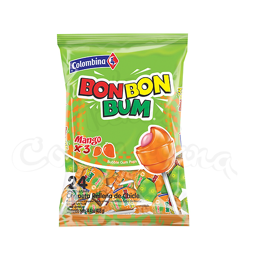 Lollipop mango flavor (Bon Bon Bum Mango ) - 24 units pack 400g