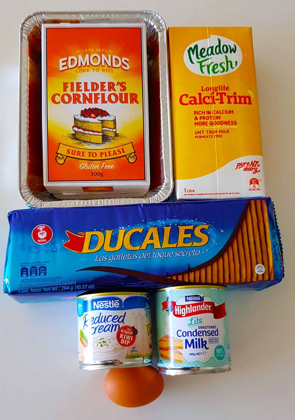 Ingredients for Ducales Dessert