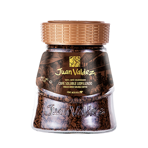 Juan Valdez Freeze Dried Soluble Regular Coffee - 95gr