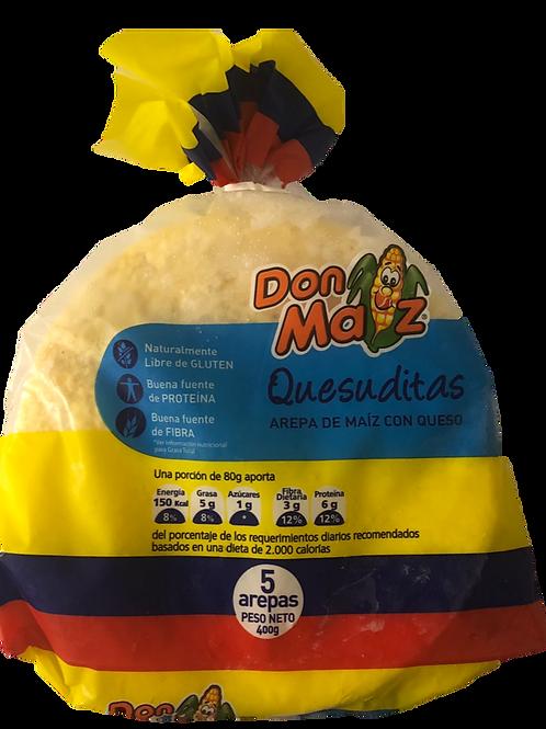 Arepas quesuditas - Cheese Arepa Don Maiz Pack of 5 (400g)