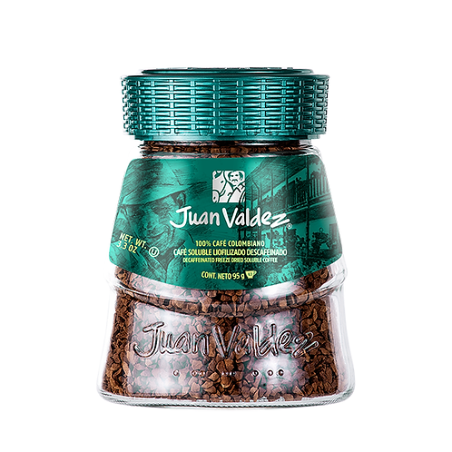 Juan Valdez Decaffeinated Freeze Dried Soluble Coffee - 95gr