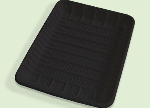 Bandeja jumbo negra de plastico biodegradable en Cali Colombia