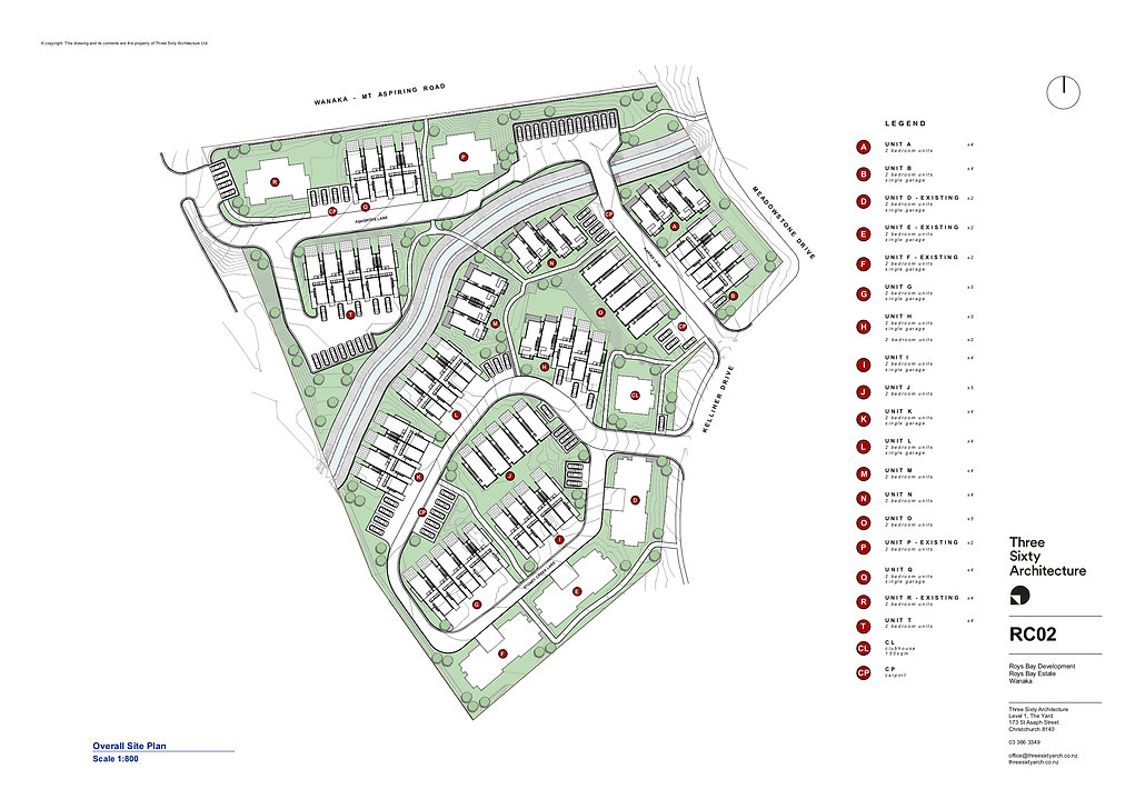 Site Plan Roys Bay Estate