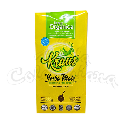 Yerba Mate Kraus Organic in a Tin argentinian mate in new zealand