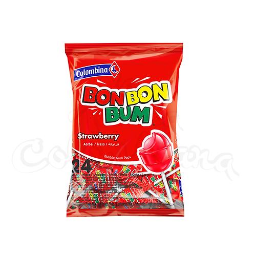 Lollipop strawberry flavour (Bon Bon Bum Fresa) - 24 units 400gr