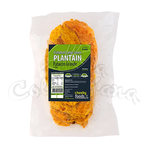 Flattened Large Green Plantain (Patacon Grande) - 1kg