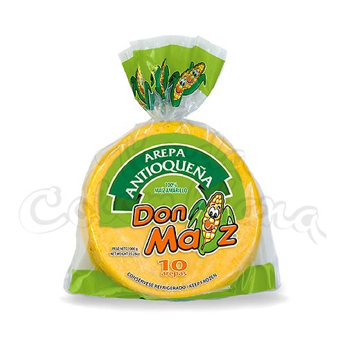 Arepa Antioqueña Amarilla Don Maiz 10 units - 1kg