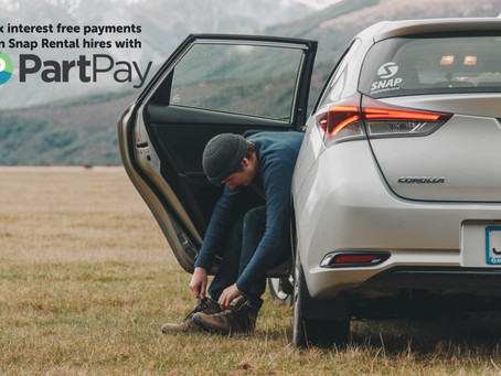 BOOK YOUR RENTAL CAR NOW, AND PAY LATER WITH SNAP RENTALS AND PARTPAY