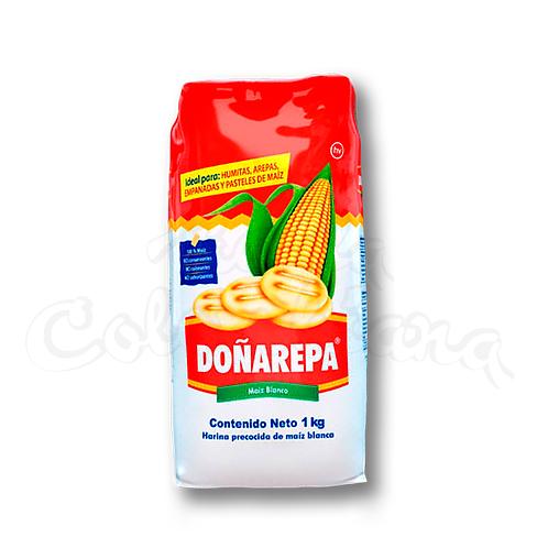 Doñarepa White Corn Flour (Harina de maíz blanco) - 1kg