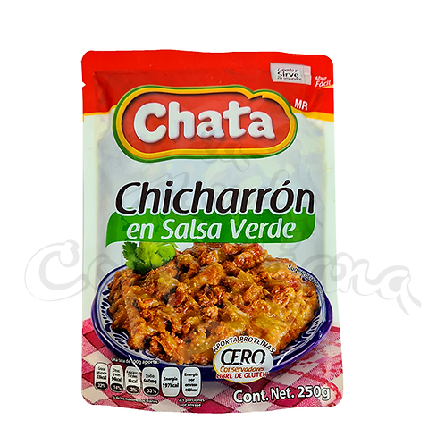 "Chicharron in green Sauce ""La Chata"" - 250gr"