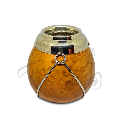 Natural Pumpkin Gourd Silver Rim