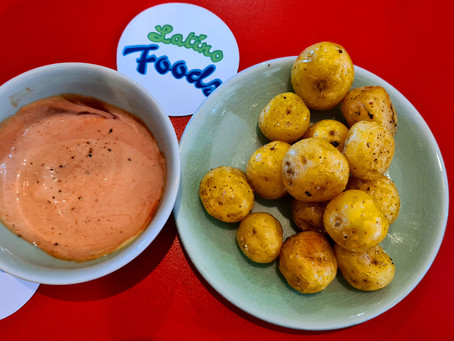 Yellow Andean Potatoes with Golf Sauce
