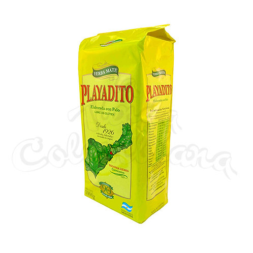 Yerba Mate Playadito Traditional with Stems - 1 Kg