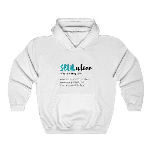 Define SOULutions Hooded Sweatshirt (Stylized/White)