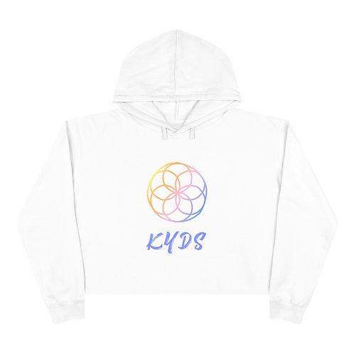 KYDS Team Logo White Crop Hoodie