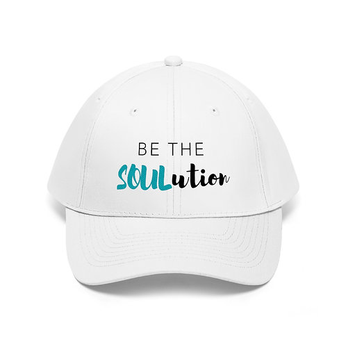 Be The SOULution Dad Hat (White)
