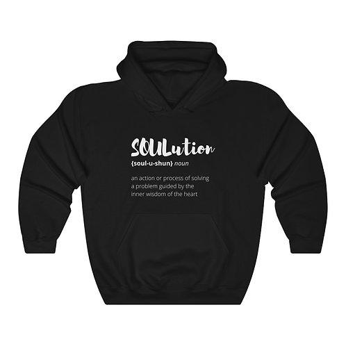 Define SOULutions Hooded Sweatshirt (Stylized)
