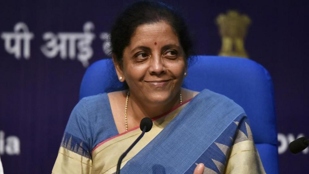 Finance Minister Nirmala Sitharaman at press conference