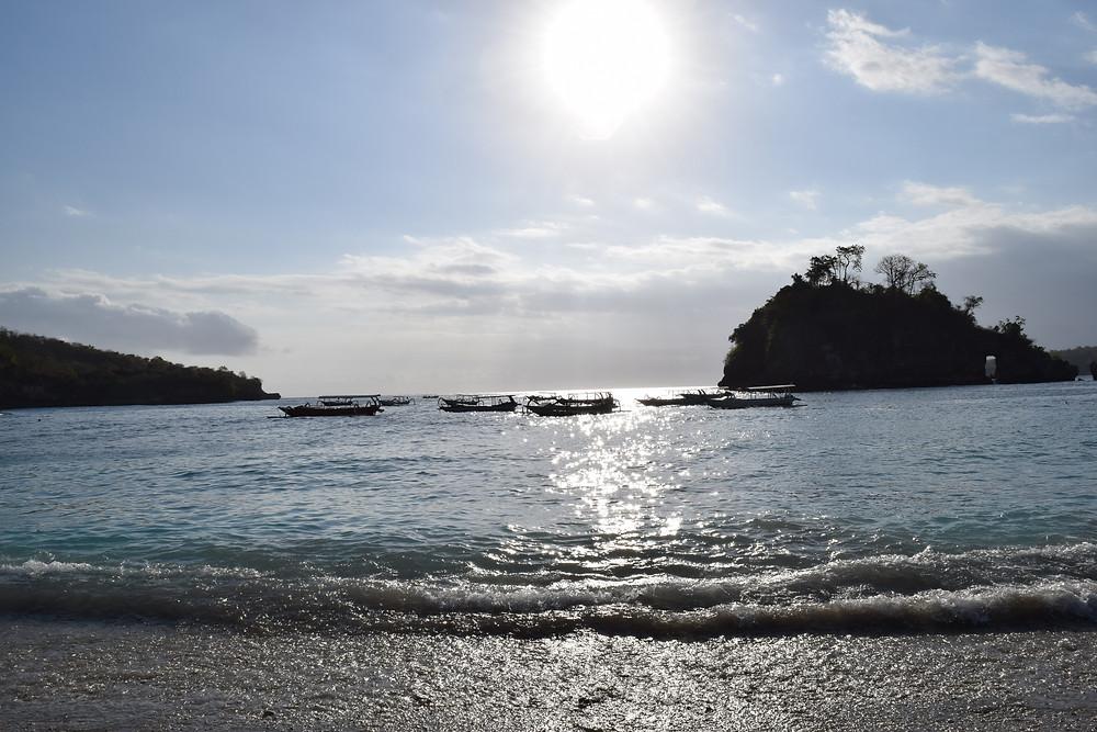The sun shining over Crystal Bay