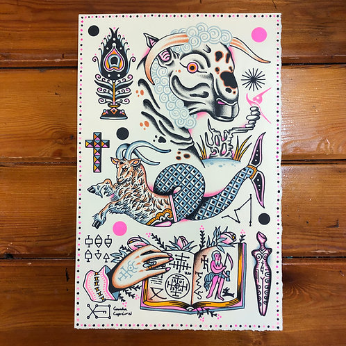 Capricorn Grimoire Print