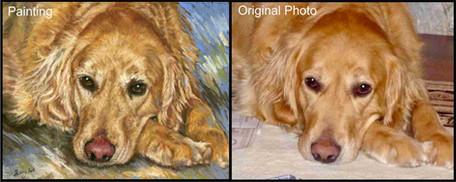 Golden Retriever Dog Custom Pet Portrait