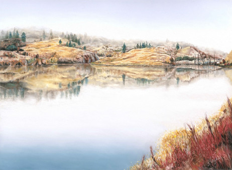 Foggy Morning on the Commonage 1 (Sold)