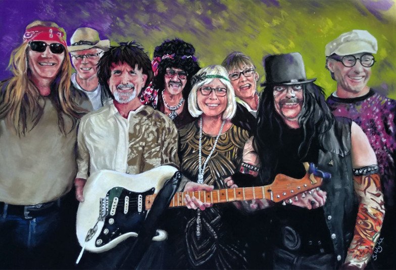 Commissioned portrait of a band.