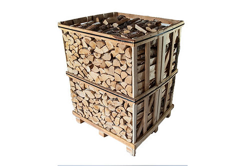 KILN DRIED HARDWOOD LOGS 1.2m CRATE (Ash/Oak)