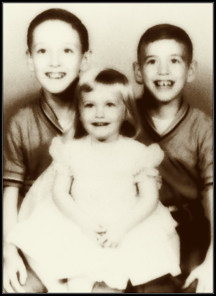 Gary, Deb, and Uncle Dave, 1961.