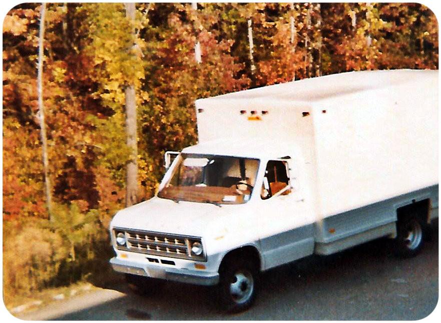 Maiden voyage of the 1977 Ford 1/2-ton equipment truck.  Fredericksburg VA, Oct 1977