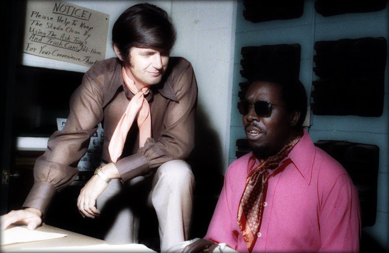 Rick Hall, owner of FAME Studios, with Clarence Carter.