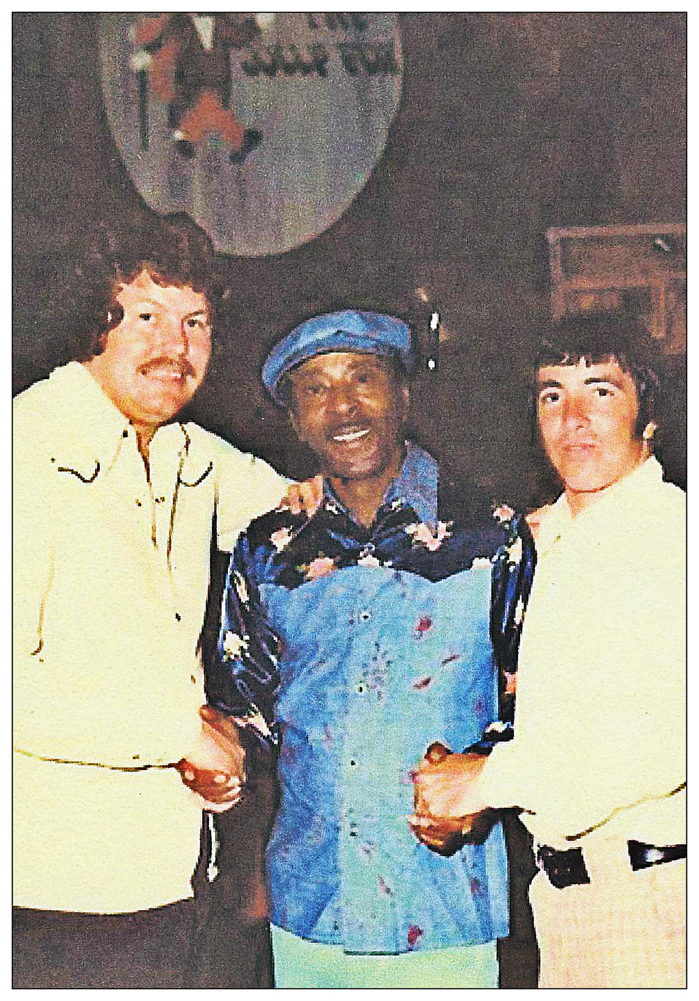 Eddie Middleton, Joe Pope of The Tams, and Bobby Joiner.  The Jolly Fox, Albany GA.