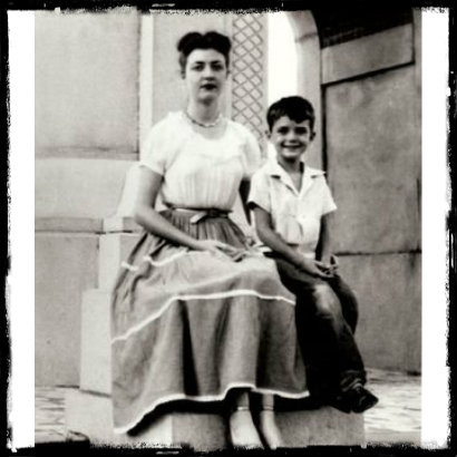 Bette Nesmith and son, Michael