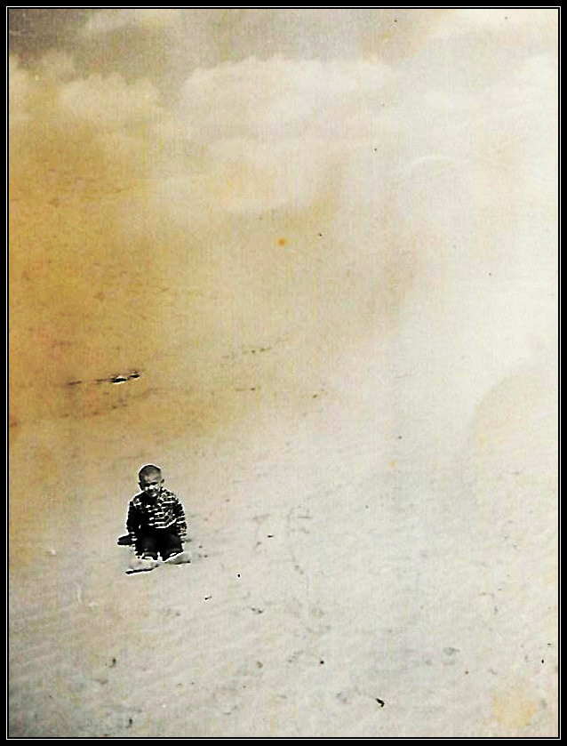 Uncle Dave lolling in the sands of the Sahara, 1958