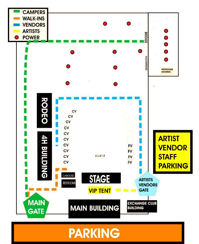 Festival layout, courtesy April Herndon